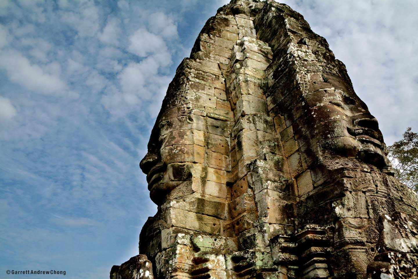 Serenity - 2018 Word-Of-the-Year. Bayon Temple, Angkor , Siem Reap Cambodia